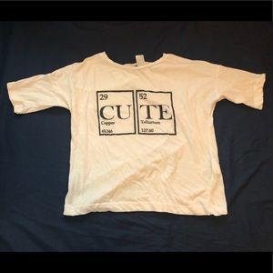 """H&M """"Cute"""" T Shirt"""